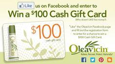 Win a $100 Cash Gift Card in the Oleavicin Social Media Contest! - Oleavicin Blog