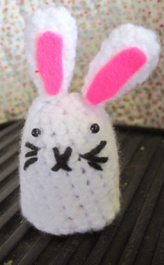 Made Out Of Things: Free Pattern - Bunny Chocolate Egg Cover