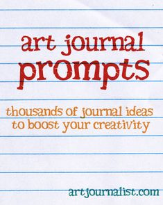 """Whether you are brand new to art journaling or are in need of some creative ideas, we have thousands of art journal prompts you can use as a jumping point for your pages and altered art books!"""