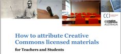 How to attribute creative commons licensed materials fact sheet