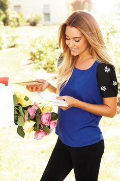 LC Lauren Conrad fall collection #blue