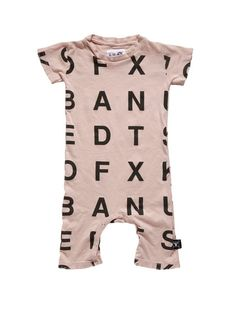 Alphabet Playsuit