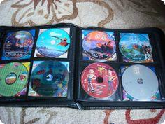 DVD Storage using a CD holder!