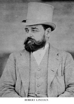Robert Todd Lincoln wearing a top hat