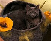 Felted Cat bed on Etsy