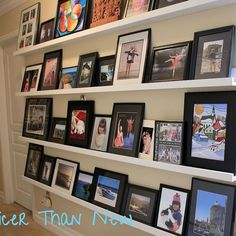 DIY Picture Gallery Shelves