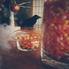 Spooky use of our Glass Pillar Candle Holder! Do you have it displayed another way? Share with us!