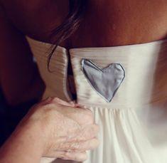 heart wedding dress back patch
