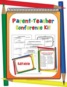 You will love this Parent-Teacher Conference Kit!  It is editable and is designed to ensure that you will absolutely have the best and most organized conferences ever!  You can choose from either 1-day or 2-day conference forms.  There are easy step-by-step directions for use and editing of the printable forms.
