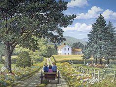 Looking Back  JohnSloaneArt.com - John Sloane - Gallery - Amish