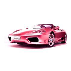 Pink Ferrari..Real life size barbie car!