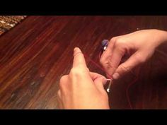 Video showing how to use single crochet to personalize earbuds and also keep them tangle free.