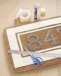 Custom Doormat using spray paint & stencils.