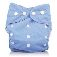 Newborn 6-20LBS Sunny Baby Reusable Light Blue Washable Snap One Size Pocket Diapers | Shopdiaper