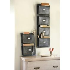These Vintage Wall Pockets are chic and functional...what more could you ask for?! These are perfect for the home office and add that hint of industrial chic!
