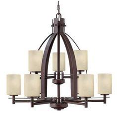lights, hinkley light, dine room, 9light chandeli, tier 9light