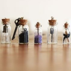 Bottle necklace DIY. See my DIY project on how I made them.