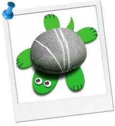 Turtle Party Ideas and Games | Turtle Rock Craft at Birthday in a Box
