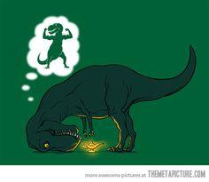 Qué haría T-Rex si tuviera brazos más largos?
