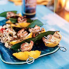 Grilled Lemon-Bay Shrimp Recipe