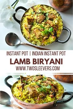 Instant Pot Kacchi Lamb Dum Biryani. Tender morsels of lamb, marinated and cooked with the rice. Authentic taste with half the work and no packaged spices! Lamb Biryani | Instant Pot Biryani | Lamb and Rice Dishes| Indian Instant Pot Recipes|