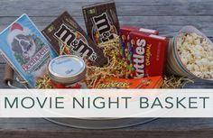 Christmas Gift: Family Movie Night Basket