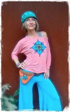 HIP bag BELT Fannypack ELEPHANT button hippie accessory by GPyoga, $88.00