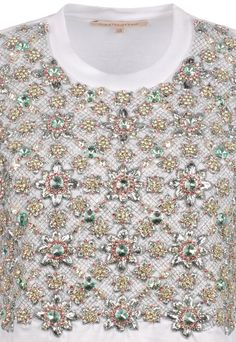 monsieur-j:    Christopher Kane S/S 2012 Embroidery & Diamante Detailing T-Shirt