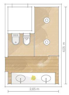 Apartamento Jardins III / Carolina Rocco #banheiro #bathroom #plan