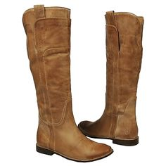 Women's Frye Paige Tall Riding Tan Leather Shoes.com