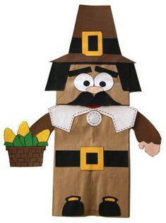 Paper Bag Pilgrim Puppet