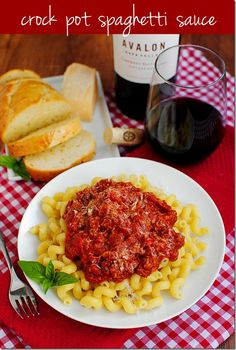 Crock Pot Spaghetti Sauce (with or without meat)