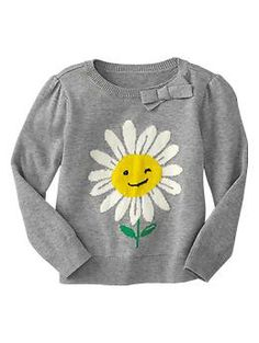 Bow intarsia graphic sweater   Gap