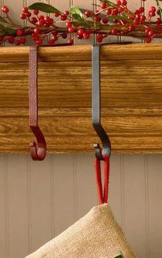 Red Plain Stocking Hanger