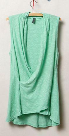 pretty #mint draped tank http://rstyle.me/n/i59k5r9te