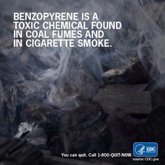 Tobacco smoke is a toxic mix of more than 7,000 chemicals & compounds, including benzopyrene. You can quit today. Ask your dentist or hygienist for help.