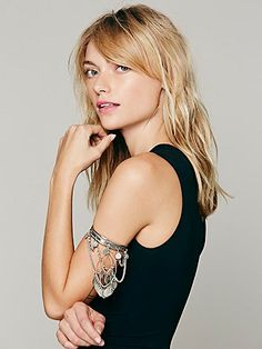 Free People Coin Stretch Upper Arm Band