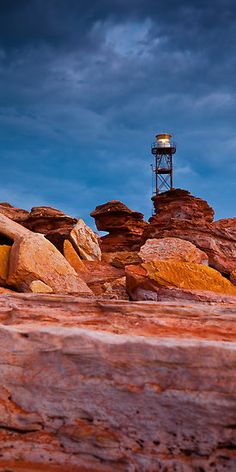 Lighthouse at Gantheaume Point in Broome, Western Australia