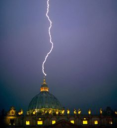 Lightning Strikes the Vatican