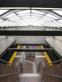 Glencairn subway station, Toronto #metro #underground #urban #architecture