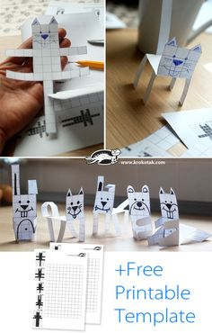 paper animals in squ