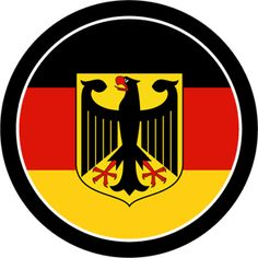 German flag with Imperial German eagle.