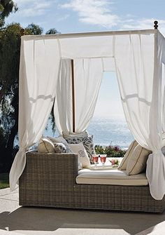 cabana lounge, awesome! Its time to spruce up your outdoor space! #cabana #outdoordecor #outdoorfurniture