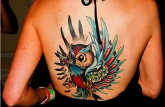 Bird Back Tattoo Ideas