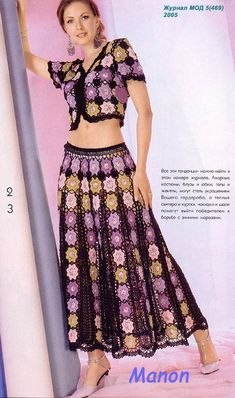 Manon Suit free crochet graph pattern