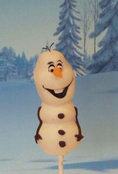 Olaf Cake Pops