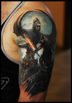 This is rad as hell #tattoo #tattoos #dragon #geek #gamer #nerd