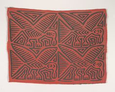 """Kuna people (Panama), """"Shirt panel (mola),"""" about 1950s; Indianapolis Museum of Art, The Paul and Irene Hollister Collection of Kuna molas, 2008.406"""