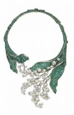 Collier Dior. Lily of the valley