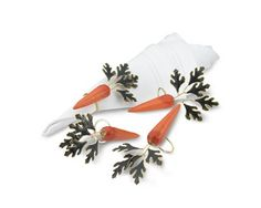 I like the Cloisonne Carrot Napkin Rings, Set of 4 on Williams-Sonoma.com